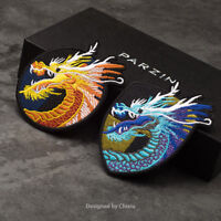 Dragon Head Clothes Patch Applique Sew On Iron On Embroidery Lace Fabric Badge