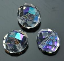 Faceted Rondelle Crystal Glass Beads Size 4mm 6mm 8mm 10mm 12mm for Craft