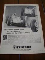 1960  FIRESTONE ***ORIGINAL AD*** INDIANAPOLIS 500