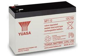 Yuasa NP7-12 12v 7Ah 12 volt Sealed Lead Acid 12 V 7Ah Battery