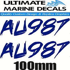 Jet Ski Rego Registration Sticker Mod Decal Set of 2, 290 x 100mm each