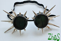 Cyber Goggles Cyber Goth Cyber Gothic Glasses Spikes Cosplay Blacks Industrial