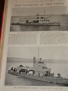 1898 Gun Boote Heron & Sultan Auf River Nile Niger Marineblau