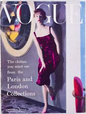 William Klein NORMAN PARKINSON Chanel LANVIN Dior SEPTEMBER 1957 Vogue magazine
