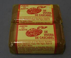 2x Jabon de Aceite de Vibora RattleSnake Soap Treatment Skin