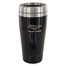 Ford Mustang Black Stainless Steel Coffee Tumbler Mug