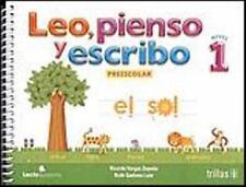 LEO, PIENSO Y ESCRIBO 1. PREESCOLAR., POR: RICARDO VARGAS ZEPEDA