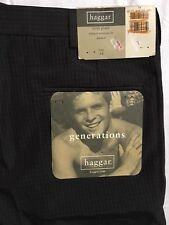 Haggar Shorts Mens Size 34 Mini Plaid Brown Relaxed American Fit Pleated NWT