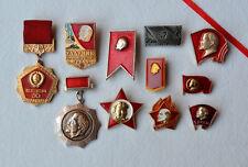 USSR Lenin pin badge Lot of 11 Pioneer Octobrist Communist propaganda VLKSM СССР
