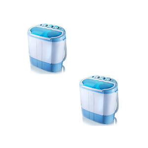 Pyle 2 x PUCWM22 2 in 1 Portable Top Load Washing Machine and Dryer (2 Pack)