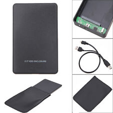 "USB2.0 2.5"" Inch Hard Drive IDE HDD HD External Enclosure Case Box for Laptop PC"