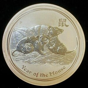 2008, Australia $2, 2 oz .999 Silver Coin.! Lunar Series -Year of the Mouse.!