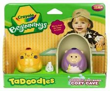 Crayola Beginnings Tadoodles Washable First Marks Cozy Cave Lion Monkey NEW