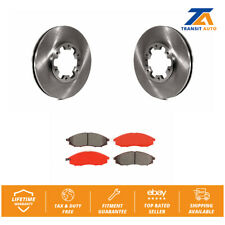 Front Brake Disc Rotors And SIM Semi-Metallic Pad Kit For Nissan Xterra Frontier