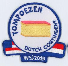 2019 World Scout Jamboree HOLLAND DUTCH SCOUTS Contingent Patch - TOMPOEZEN