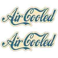 Air cooled Aged Laminated Stickers 200mm Camper Beetle Surfer Retro Aircooled B