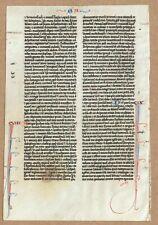 More details for fine c.1300 manuscript bible leaf on fine vellum - book of wisdom (vi - ix)