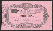ITALIA BANCONOTA 100 LIRE BANCA NAZIONALE NEL REGNO 20.07.1887 RARA