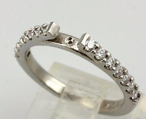Platinum cathedral engagement ring semi mount 0.39ctw round brilliant diamonds