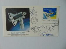 """""""Space Station Astronauts"""" Hand Signed (X5) FDC Dated 1981 Todd Mueller COA"""