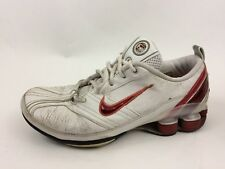0ede60102ad1 Nike Shox Womens 7.5 M Sneaker Shoes Athletic White Red Training Leather  Running