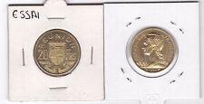 REUNION – RARE 20 FRANCS UNC COIN 1955 YEAR KM#E7 ESSAI SPECIMEN