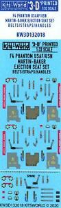 Kits World Decals 1/32 3D MARTIN BAKER EJECTION SEAT SET USAF/USN F-4 Phantom