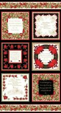Benartex Holiday/Christmas Craft Fabric Panels