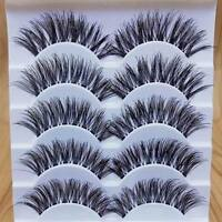 5 Pairs Makeup Handmade Natural Long Dense Fake False Eyelashes Extension