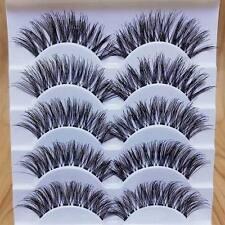 Sparkle Makeup Handmade 5 Pairs Natural Long Dense False Eyelashes Extension