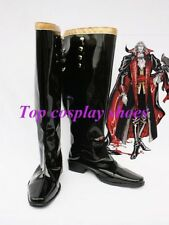 Anime Castlevania Cosplay Earl Black Cosplay Boots Shoes for Halloween