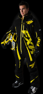 SALE - FXR Ranger Snowmobile Monosuit, Men's, Black, Yellow, Extra Large, XL