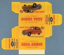 DINKY TOYS 153 : STANDARD VANGUARD SALOON box boite repro reprobox replique copy