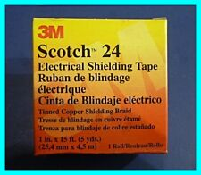 """3M Scotch 24, Electrical Shielding Tape, Indoor/Outdoor, 1"""" x 15' (Quantity 1)"""