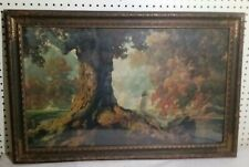Maxfield Parrish 22 X 35 Dreaming Vintage Print pre -owned