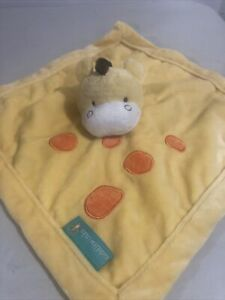 Tiddliwinks Yellow Giraffe Lovey Security Blanket Orange Spots baby plush soft