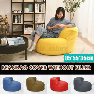 Bean Bag Lazy Sofas Cover Lounger Seat Living Room Furniture Without Filler CA3