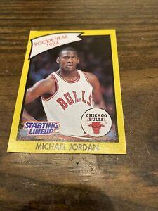90 Kenner Starting Lineup Michael Jordan Card Rookie 1984. Sharp!