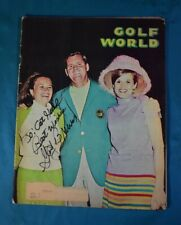 Golf World Magazine 1967 Inscribed and Signed by Gay Brewer