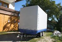 Bayerwald Anhängerplane Hochplane nach Maß bis L: 3,20 m x B: 1,60 m x H: 1,20 m
