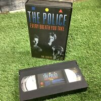 The Police VTG Retro VHS Video - Every Breath You Take - 78-86 - Sting - Roxanne