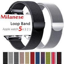 Edelstahl Milanese Armband f. Apple Watch Series 6 se 5 4 3 2 1 38 - 44mm DE