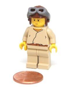 Lego Star Wars Young Anakin Skywalker Minifigure w/ Helmet Goggles SW007