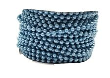 Pearl Plastic Beads on a String 4Mm Faux Craft Roll 24 yds (turquoise)