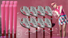 "Women's iDrive Golf Clubs All Ladies Pink Hybrid (3-PW) Set Lady ""L"" Flex Clubs"