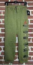 Nike Boy's Air Jordan Jumpman Sweatpants Militia Green Size L
