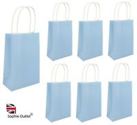 PAPER PARTY BAGS With Handles Wedding Birthday Sweet Favor Loot Bag BABY BLUE UK