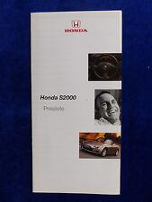Honda S2000 - Preisliste - Prospekt Brochure 08.2000