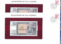 Banknotes of all Nations Iceland 1981 10 Kronur UNC P-48a.3 sig 42 2 Consecutive