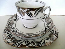 Art Deco / Vintage China Tea Set Trio.Royal Albert Crown China.8091. British.